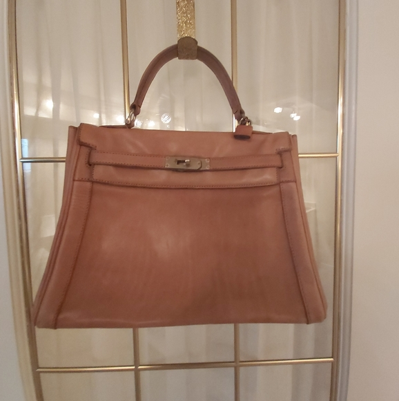 Vintage Tan Leather Tote